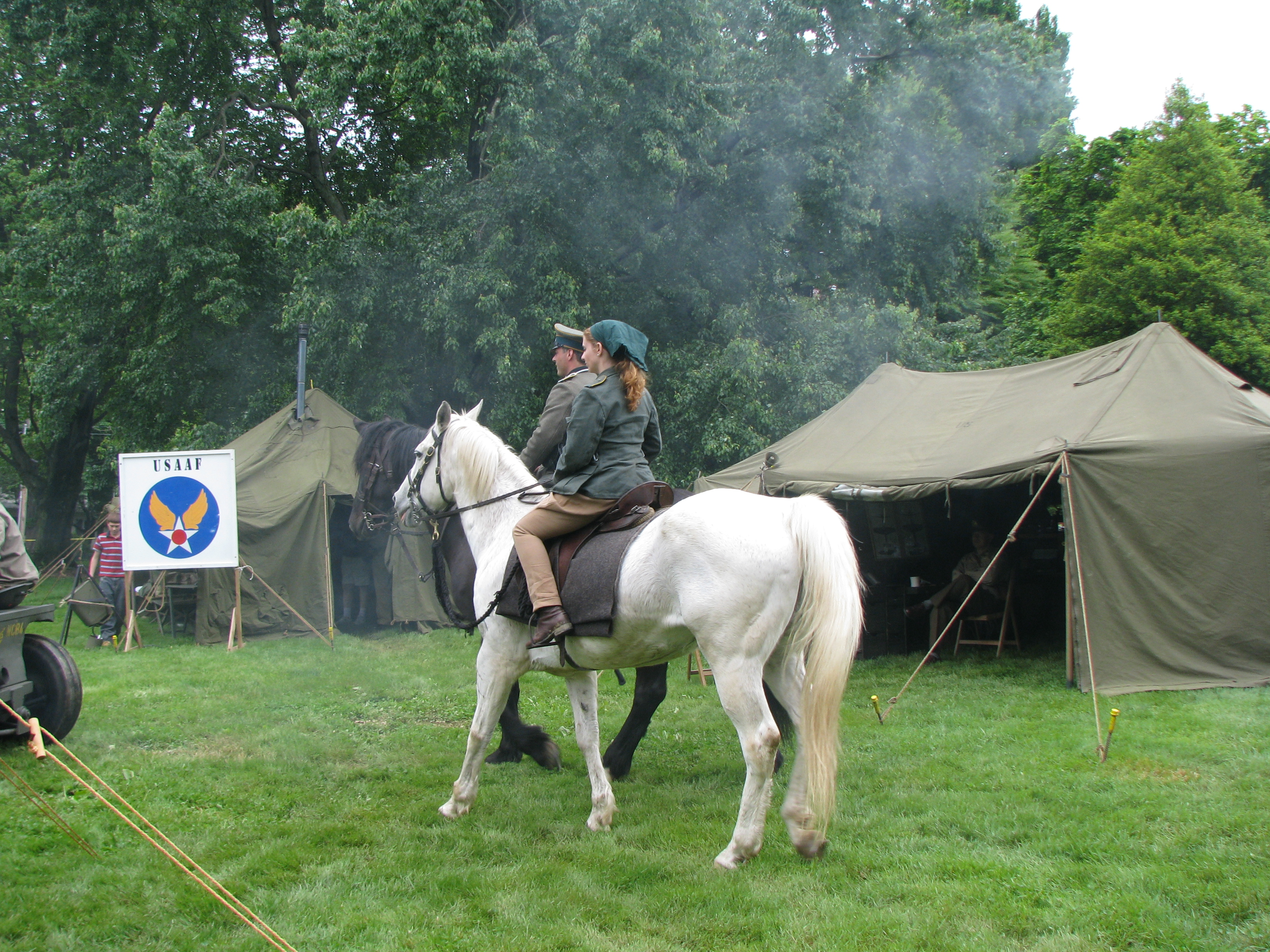 A Mounted German Troop and a German Horse trainer were also there